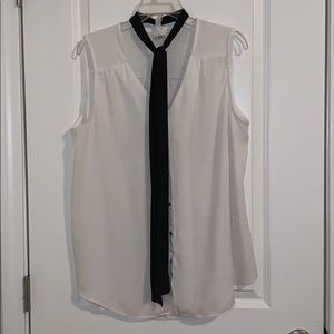 Button down tank with tie